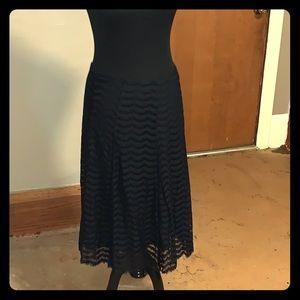Black lace midi skirt size 6 like new!
